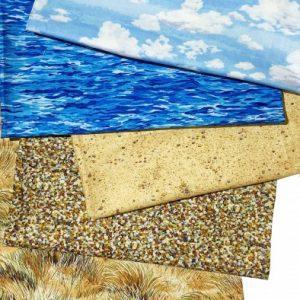 5 Fat Quarter Pack - Coastal Landscapes