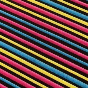 Liquorice Diagonal Stripe