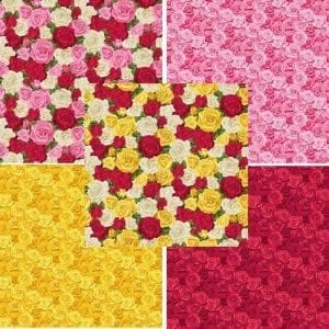 Roses 5 Fat Quarter Pack Summer Garden