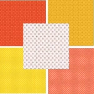 Yellow Orange Spot Fat Quarter Pack