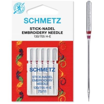 75 Schmetz Embroidery Sewing Machine Needles