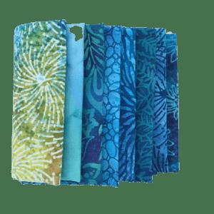 Blue Batik Fat Quarter Pack