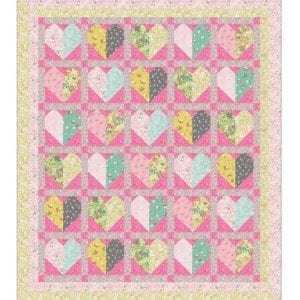 Bunny Hop Quilt Kit Pink