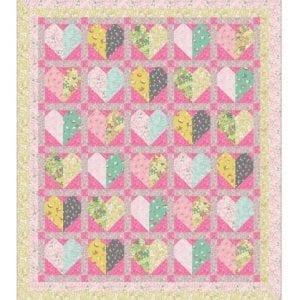 Bunny Hop Quilt Kit Pink