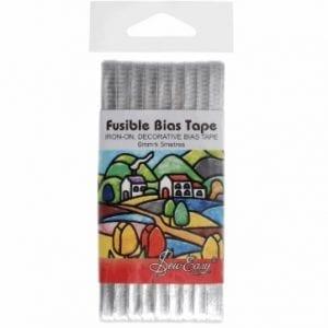 ER519.Silver Fusible Bias Tape