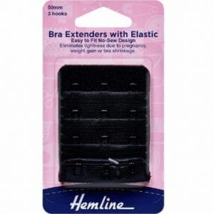 Bra Back Extenders: 50mm: Black
