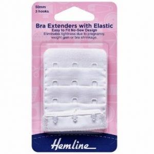 Bra Back Extenders: 50mm: White