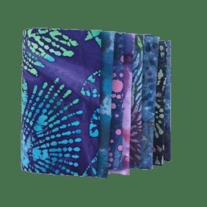 10 x Purple Batik Fat Quarter