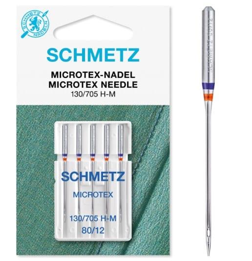 Schmetz Microtex 80 Sewing Machine Needle
