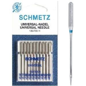 Size 70/10 - 100/16: Schmetz Universal Sewing Machine Needle
