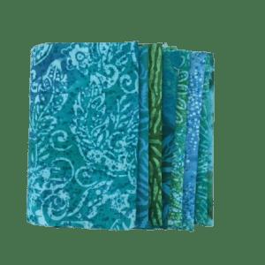 Turquoise Batik Fat Quarter Pack