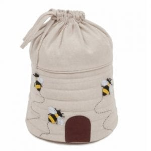 Drawstring Bag with Bee Design