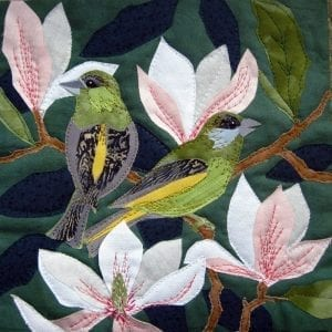 Greenfinches-on-Magnolia-Kate-Findlay