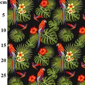 Parrot Poplin CP0760-BLACK-cm