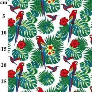 Parrot Poplin CP0760-WHITE-cm