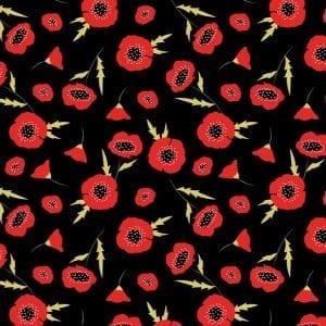 Poppy Fields 2828-04 Black