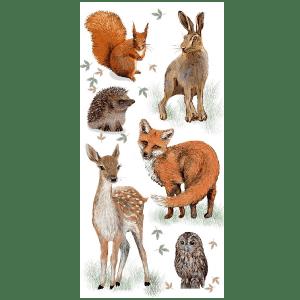 Woodland Animals Fabric Panel