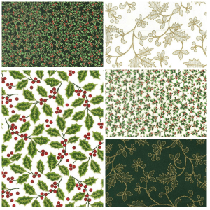 Green-Cream Holly Bundle 6 Christmas
