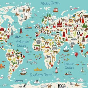 Around The World Map Panel