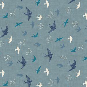 Makower Hedgerow 2421-B Swallows
