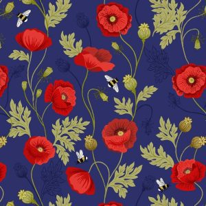 Poppies A553.2 Blue