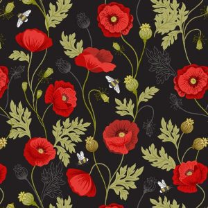 Poppies A553.3 Black