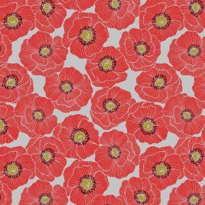 Poppies A554.1 Light Grey