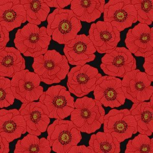 Poppies A554.3 Black