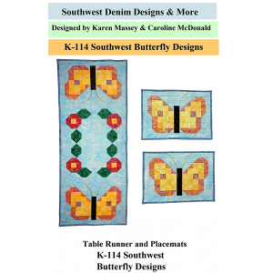 K-114 Southwest Butterfly Table Runner and Mats Pattern