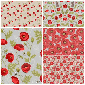 Poppies Fat Quarter One