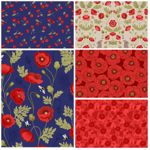 Poppies Fat Quarter Two