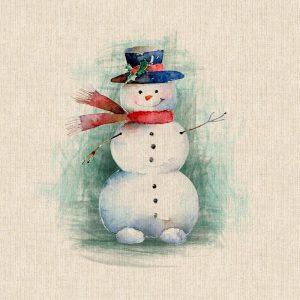 Christmas Snowman Panel