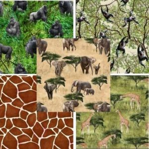 African Safari Fat Quarter Pack Day