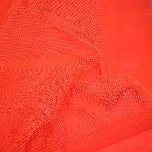 Dress Net- TANGERINE Nylon Net
