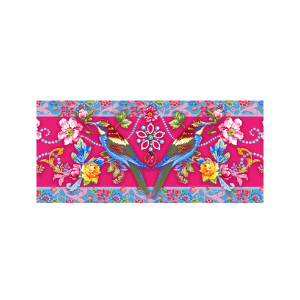 Designer Velvet Borders Jewels-Pink.