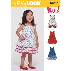 n6610 Childs Dress Pattern